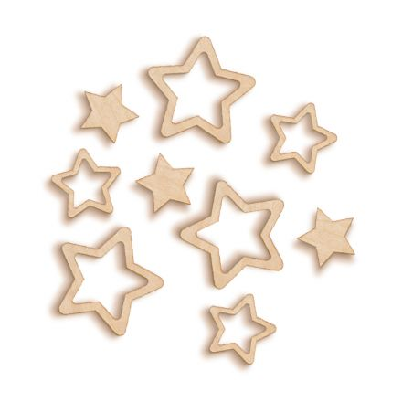 Rounded Stars Woodies