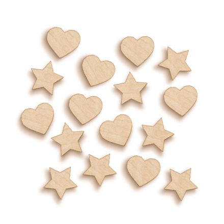 Stars and Hearts Woodies